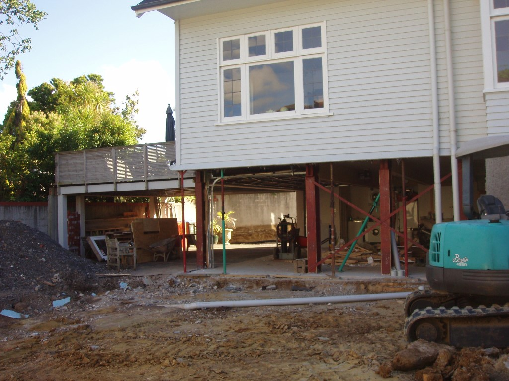 Garage being built for Arney Road by Brownbuild Construction